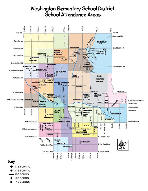 All WESD Schools District Map