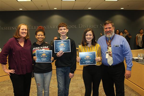 WESD Students Recognized for Perfect AzMERIT or AIMS Test Scores