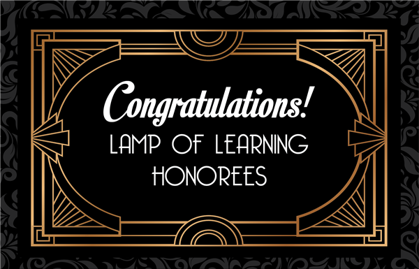 Lamp of Learning Congratulations