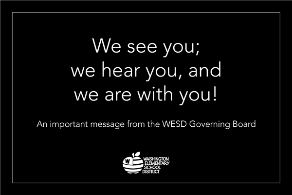 The WESD Governing Board votes unanimously to adopt a Letter of Support.