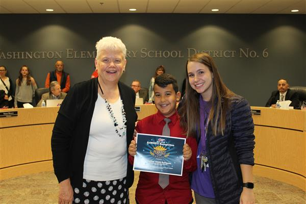 WESD Students Recognized for Perfect AzMERIT Scores