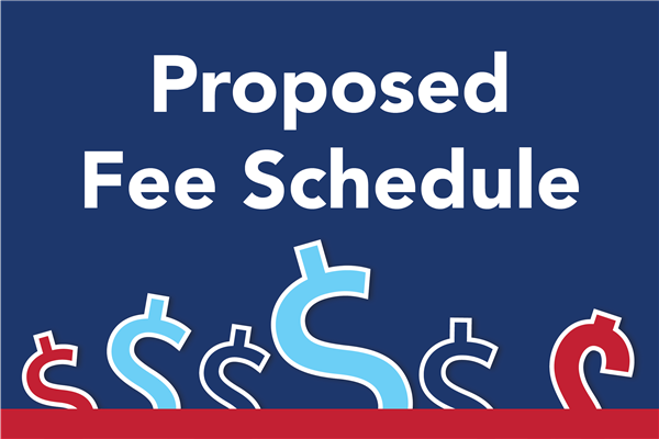 2020-2021 Proposed Fee Schedule