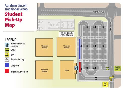 student pick up drop off map
