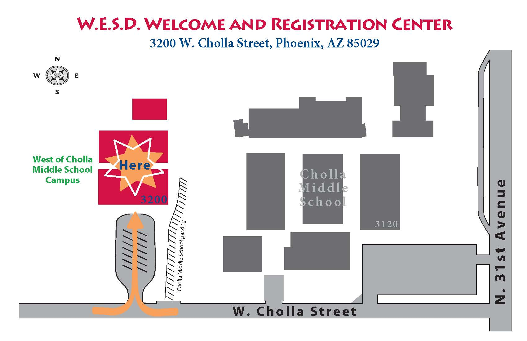 WESD Registration Center Map