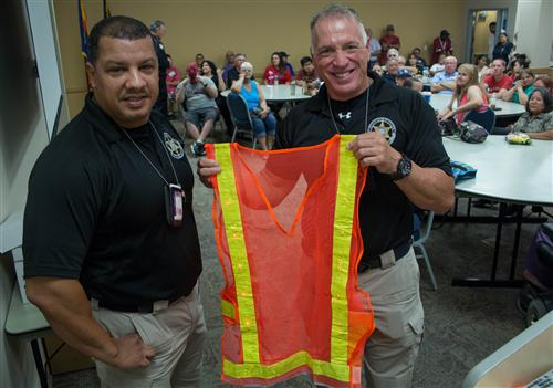 New lighted vest for WESD crossing guards